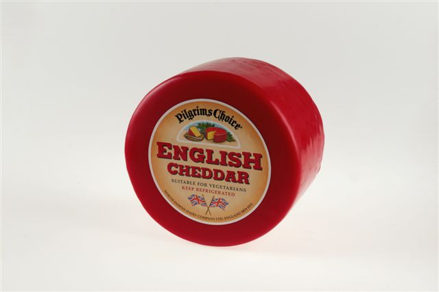 Mild Coloured Cheddar in Red Wax